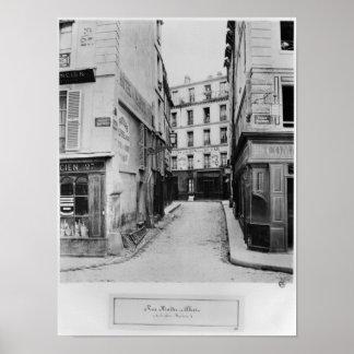 Rua Maitre Albert Paris, 1858-78 Poster