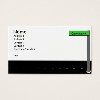 Rua moderna cartão de visitas