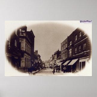 Rua principal de Godalming, Surrey, c.1900 Poster