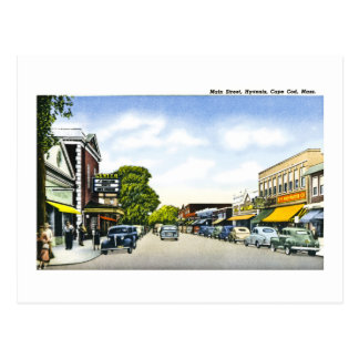 Rua principal, Hyannis, Cape Cod, Massachusetts Cartão Postal