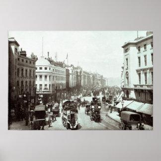 Rua regente, Londres c.1900 Poster