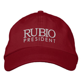 Rubio para o presidente 2016 boné bordado