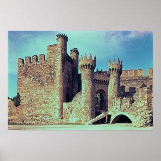 Ruínas do castelo dos cavaleiros Templar Pôsteres