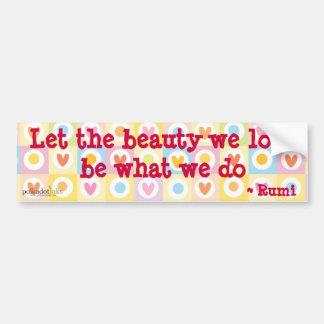Rumi* deixou a beleza que nós amamos a etiqueta adesivo para carro