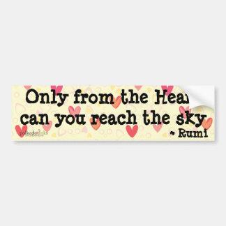 Rumi* somente da etiqueta do coração adesivo para carro