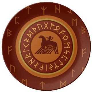 Runes de Viking Pratos De Porcelana