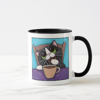 Ruptura de chá - caneca do gato