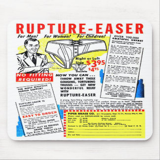 Ruptura-Easer retro do anúncio da banda desenhada Mousepads