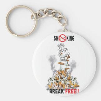 Ruptura livre - pare de fumar chaveiro