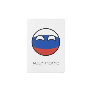 Rússia Geeky de tensão engraçada Countryball Capa Para Passaporte