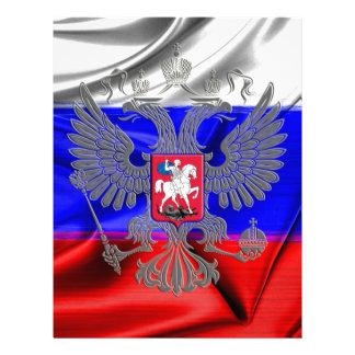 russo-bandeira papel timbrado