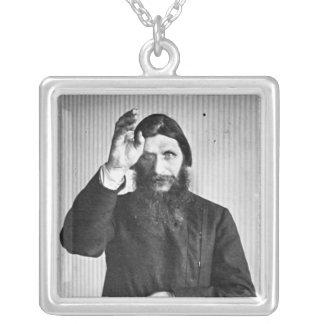 Russo Grigori místico Yefimovich Rasputin Colar Com Pendente Quadrado