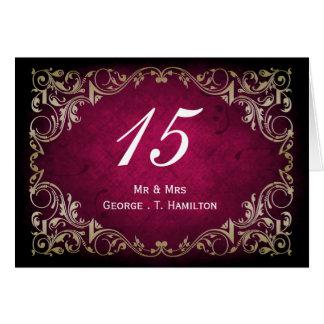 rustic pink regal wedding table seating card