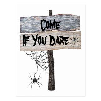 Rústico de #2 Spiderweb vindo se você ousa o Dia Cartão Postal