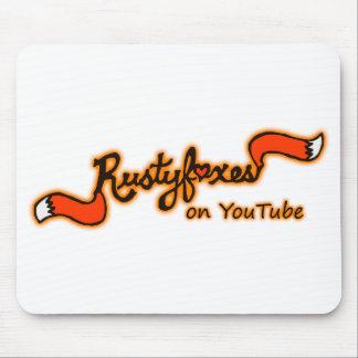 Rustyfoxes na cor Mousepad customizável de Youtube