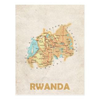 ♥ Rwanda dos CARTÃO do MAPA