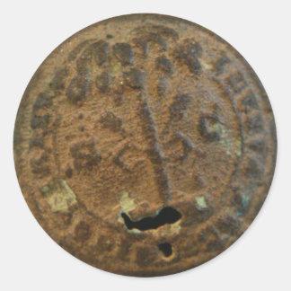 S.C. Etiquetas do botão do selo do estado Adesivo