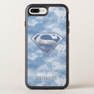 S-Protetor | do superman claro - logotipo azul da Capa Para iPhone 7 Plus OtterBox Symmetry