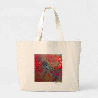 Saco abstrato colorido vermelho bolsa para compras