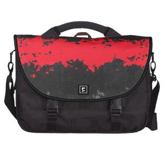 saco abstrato do vermelho e do preto maletas para notebooks