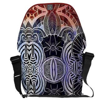 Saco abstrato tribal exótico do laptop do estilo bolsa mensageiro