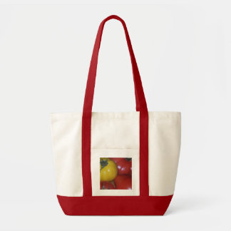 Saco amarelo e vermelho do tomate bolsa tote