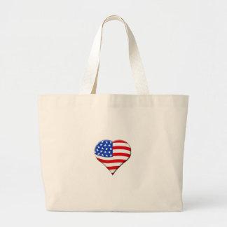 Saco americano do coração sacola tote jumbo