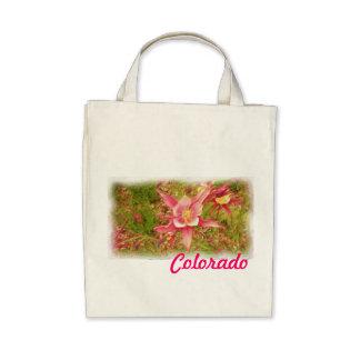 Saco aquilégia cor-de-rosa de Colorado Bolsas