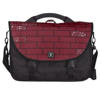 saco áspero vermelho dos tijolos bolsa para computador portátil