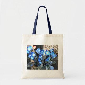 Saco azul dos rosas bolsa