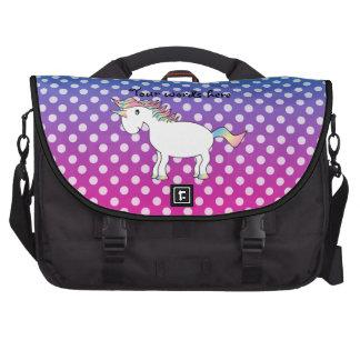 Saco azul e cor-de-rosa do laptop do unicórnio das bolsa para laptop