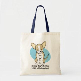 Saco bonito da chihuahua do cão dos desenhos anima bolsa