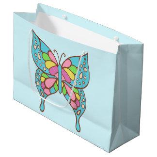 Saco bonito do presente da borboleta sacola para presentes grande