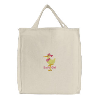 Saco bordado bebé da fralda do bolsa das canvas