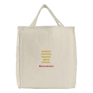 Saco bordado costume bolsa para compra