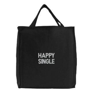 Saco bordado costume, solteiro feliz, amor das bolsas de lona