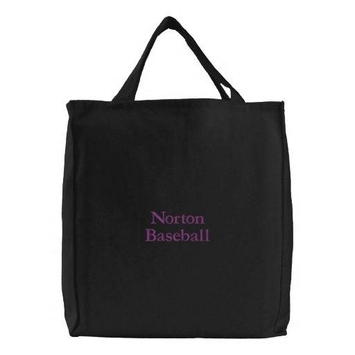 Saco bordado de Norton basebol preto Bolsa Bordada