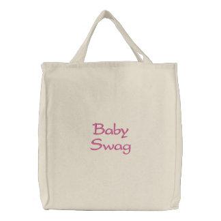 Saco bordado ganhos do bebê bolsa