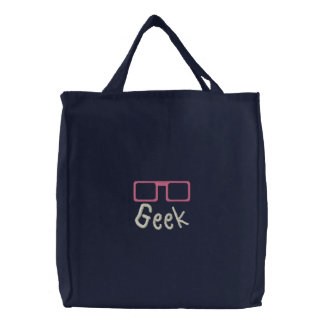 Saco bordado geek do TBA Bolsas