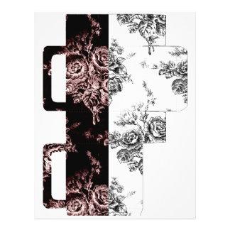 Saco branco cor-de-rosa preto do presente flyer 21.59 x 27.94cm