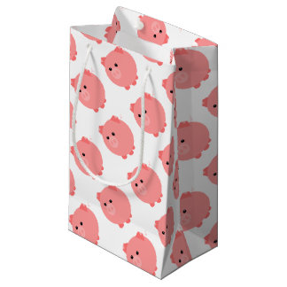 Saco carnudo bonito do presente do porco sacola para presentes pequena