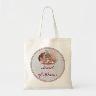 Saco clássico da madrinha de casamento das memória sacola tote budget