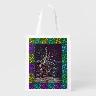 Saco colorido do presente da árvore de Natal Sacolas Ecológicas Para Supermercado