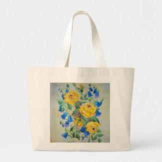 Saco com rosas amarelos bolsa para compra