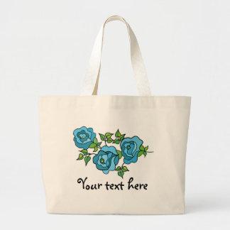 Saco com três rosas - 01 bolsa para compras