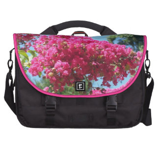 Saco cor-de-rosa bonito da flor mochila para laptop