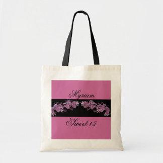 saco cor-de-rosa bonito do mehndi bolsa de lona