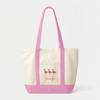 Saco cor-de-rosa conhecido personalizado do sacola tote impulse