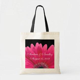Saco cor-de-rosa da boa vinda do casamento da marg sacola tote budget