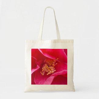 Saco cor-de-rosa da camélia sacola tote budget